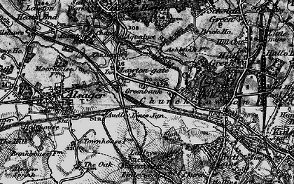 Old map of Church Lawton in 1897