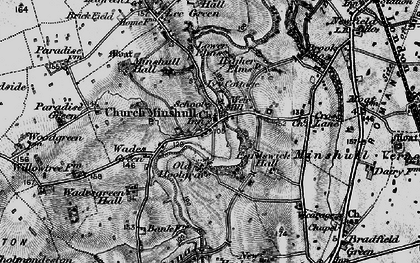 Old map of Church Minshull in 1897