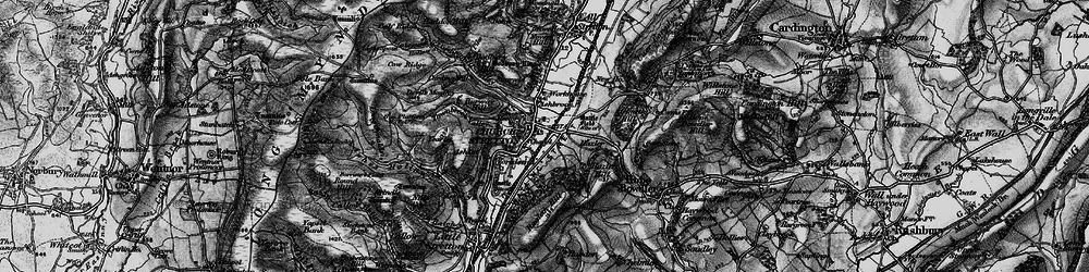Old map of Church Stretton in 1899