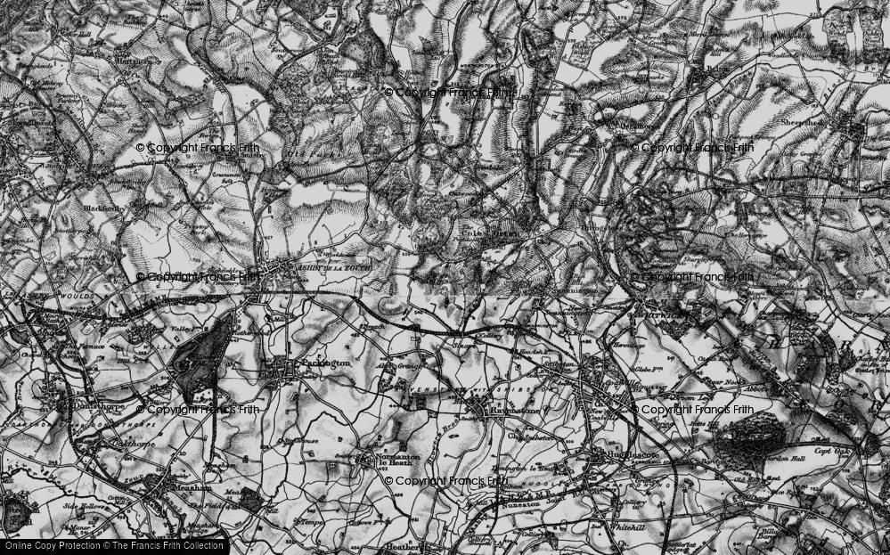 Old Map of Historic Map covering Alton Hill in 1895