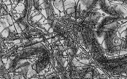 Old map of Church Town in 1895