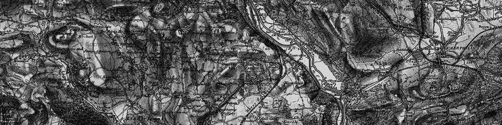 Old map of Church Village in 1897