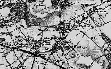 Old map of Askew Spa in 1899