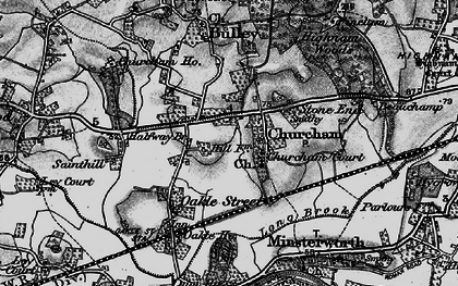 Old map of Churcham in 1896