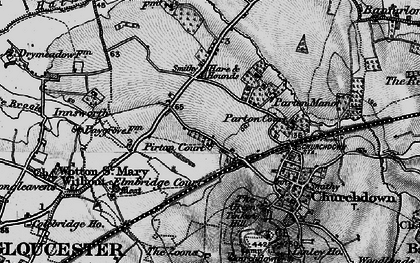 Old map of Churchdown in 1896
