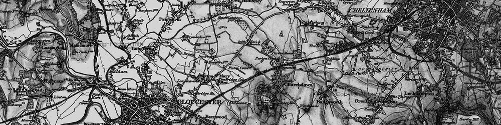Old map of Tinker's Hill in 1896