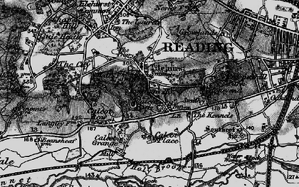 Old map of Churchend in 1895