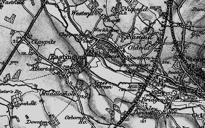 Old map of Churchend in 1897