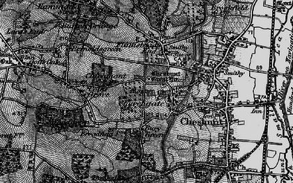 Old map of Churchgate in 1896