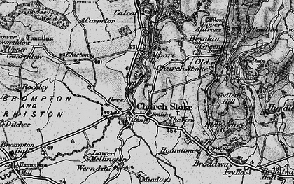 Old map of Churchstoke in 1899