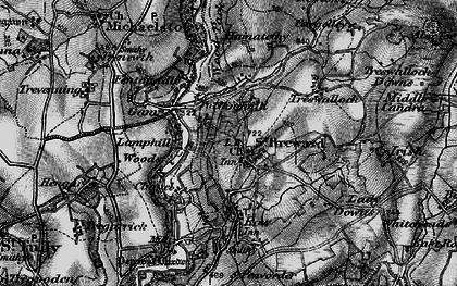 Old map of Alex Tor in 1895