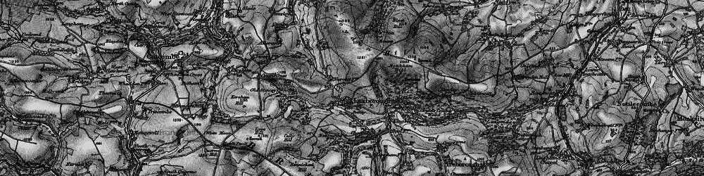Old map of Withycombe Scruffets in 1898