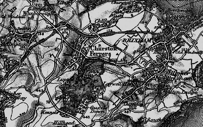 Old map of Churston Ferrers in 1898