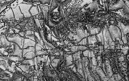 Old map of Churt in 1895