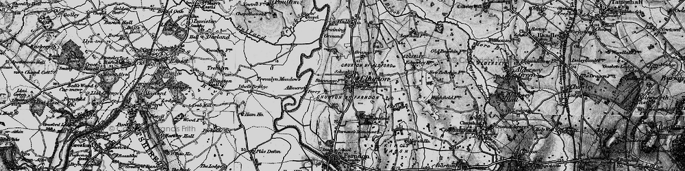 Old map of Almere in 1897