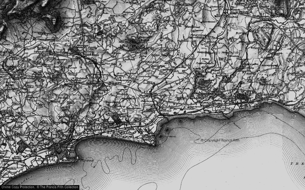 Old Map of Chwilog, 1899 in 1899