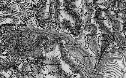 Old map of Chycoose in 1895