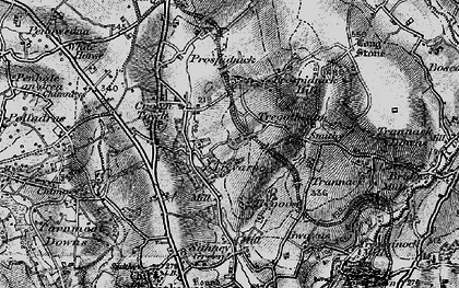 Old map of Chynhale in 1895