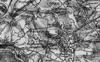 Old map of Chynoweth in 1895