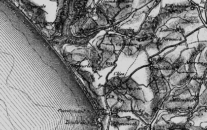Old map of Chyvarloe in 1895