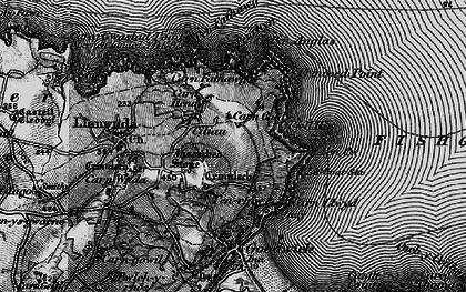 Old map of Y Penrhyn in 1898
