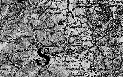 Old map of Cilcain in 1897