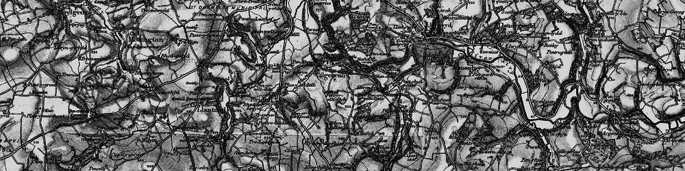 Old map of Allt-y-rheiny in 1898