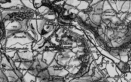 Old map of Ciliau Aeron in 1898