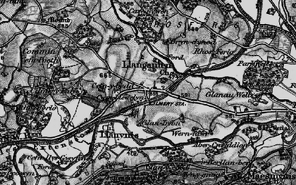 Old map of Cilmery in 1898