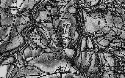 Old map of Afon Pedian in 1898
