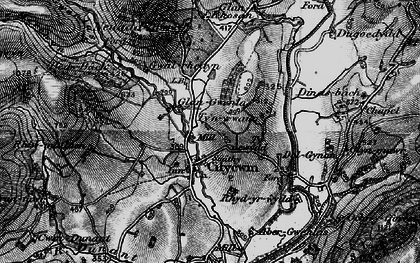 Old map of Afon Gwenlais in 1898