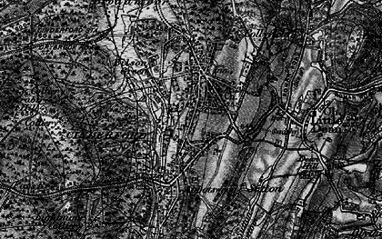 Old map of Cinderford in 1896