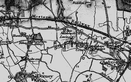 Old map of Cippenham in 1896