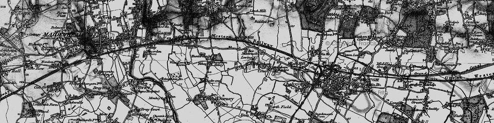 Old map of Cippenham in 1896