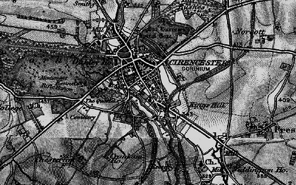 Old map of Cirencester in 1896