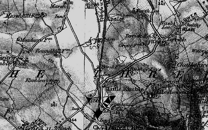 Old map of Clanking in 1895