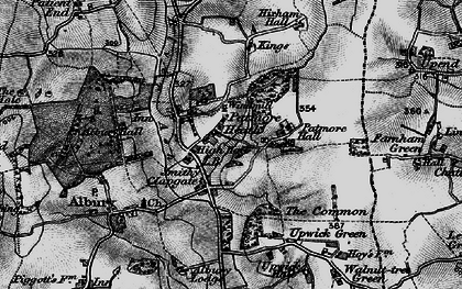 Old map of Clapgate in 1896