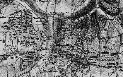 Old map of Woodlands in 1895