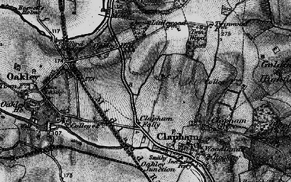 Old map of Clapham in 1896