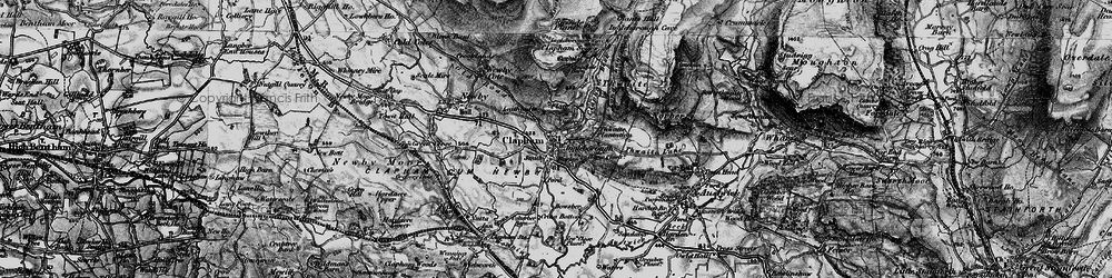 Old map of Thwaite Plantation in 1898