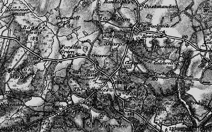 Old map of Bargate in 1895