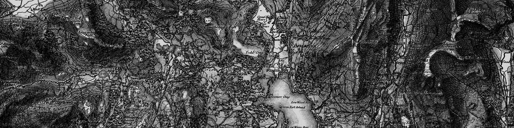 Old map of Todd Crag in 1897