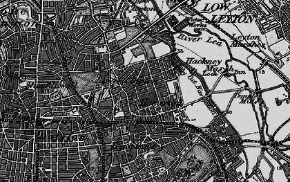 Old map of Clapton Park in 1896
