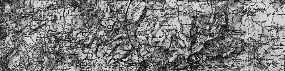 Old map of Tiphams in 1896