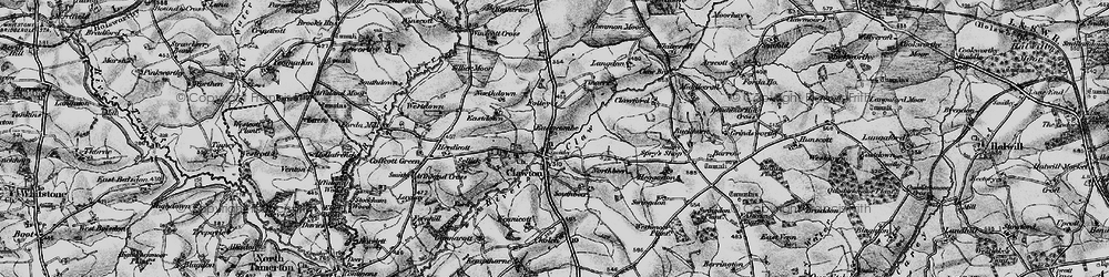 Old map of Tinacre in 1895