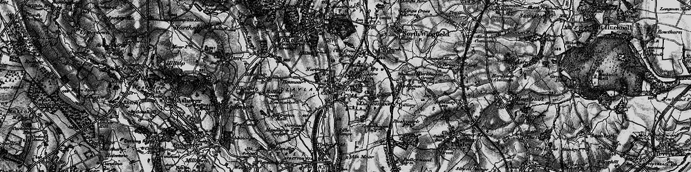 Old map of Clay Cross in 1896