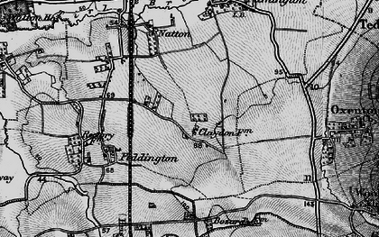 Old map of Claydon in 1896