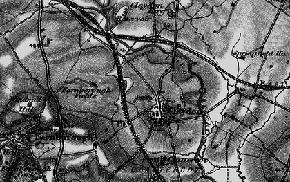 Old map of Wormleighton Resr in 1896