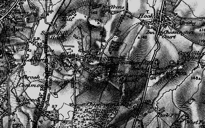 Old map of Claygate in 1896