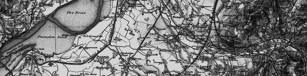 Old map of Wicksters Brook in 1897